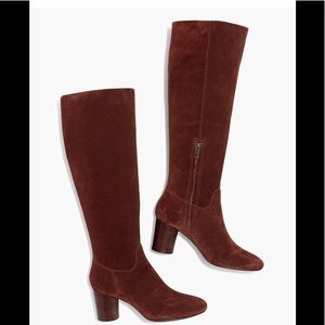 madewell scarlett tall boot suede 10M BNIB